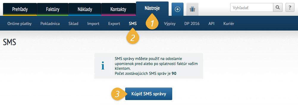 SMS nákup