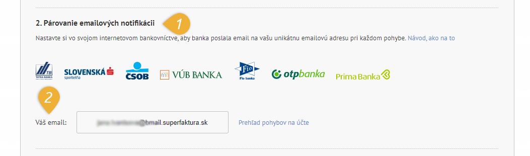 nastavenie automatické párovanie bmail