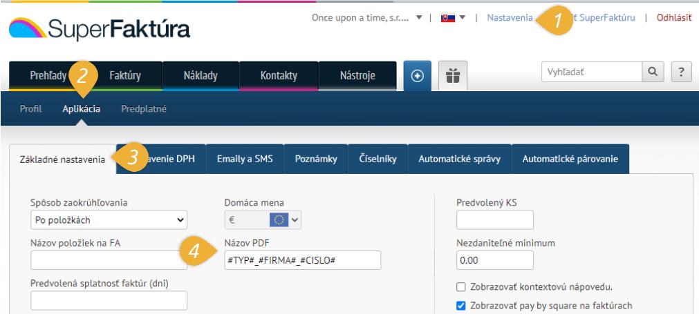 zakladne nastavenia - nazov PDF